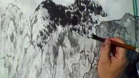 山水画技法教程视频